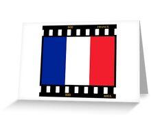 France Flag Film Greeting Card