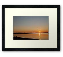 Sunset from Lopez Island Framed Print