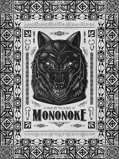 Pride of the Forest Wolf Mononoke Geek Line Artly by barrettbiggers