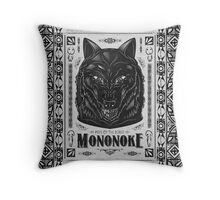Pride of the Forest Wolf Mononoke Geek Line Artly Throw Pillow