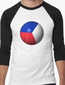 France Flag Sphere Men's Baseball ¾ T-Shirt