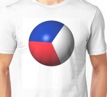 France Flag Sphere Unisex T-Shirt
