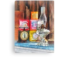 Hurricane Lamp and Scale Canvas Print