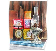 Hurricane Lamp and Scale Poster