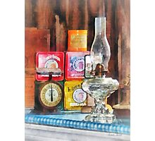 Hurricane Lamp and Scale Photographic Print