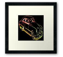 Neon Car Framed Print