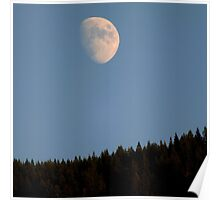 Moonrise Over Cascade Locks Poster