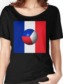 France Flag Sphere Women's Relaxed Fit T-Shirt