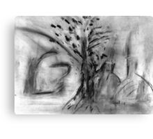 tree and bottle Canvas Print