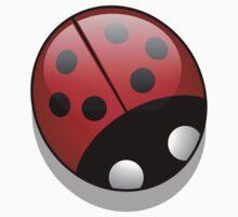 Ladybug (Ladybird, Lady Beetle) with Dots - Red Baby Tee