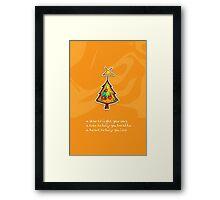 Christmas Card - Groovy Orange Wish Tree Framed Print
