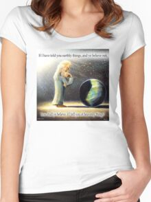 The Atheist : If I have told you earthly things.... Women's Fitted Scoop T-Shirt
