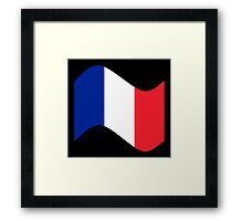 France Flag Wave Framed Print
