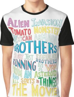 Rick and Morty Two Brothers Handlettered Quote Graphic T-Shirt