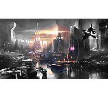 Cyberpunk - Fantasy Setting - Circle Photographic Print