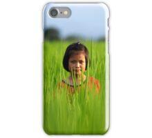 Thai Girl in Rice Paddy iPhone Case iPhone Case/Skin