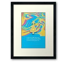 Christmas Card - Swish Wish Tree Framed Print