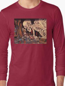 Old Japanese Art / Painting - Ukiyo-e - Skeleton - Demon Long Sleeve T-Shirt