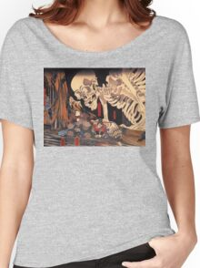 Old Japanese Art / Painting - Ukiyo-e - Skeleton - Demon Women's Relaxed Fit T-Shirt