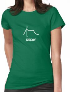 ADSR - Decay (White) Womens Fitted T-Shirt