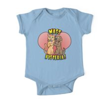 Dogs and Cats Living Together... One Piece - Short Sleeve