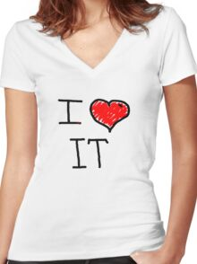 i love it  Women's Fitted V-Neck T-Shirt