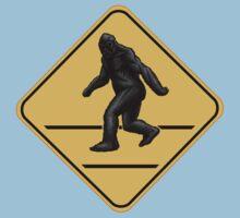 Caution! Bigfoot Crossing! Kids Tee