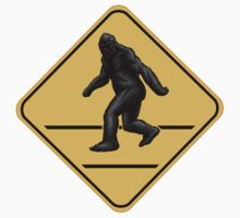 Caution! Bigfoot Crossing! Baby Tee
