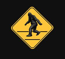 Caution! Bigfoot Crossing! Womens Fitted T-Shirt