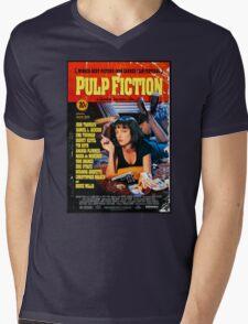 Pulp Fiction - Promotional Poster Mens V-Neck T-Shirt