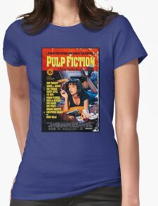 Pulp Fiction - Promotional Poster Womens Fitted T-Shirt