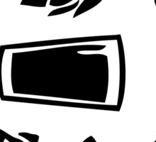 Brew / Drink / Run Oval Sticker Sticker