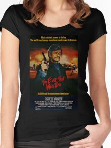 The Evil That Men Do - Charles Bronson - Movie Promo Poster Women's Fitted Scoop T-Shirt