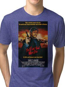 The Evil That Men Do - Charles Bronson - Movie Promo Poster Tri-blend T-Shirt