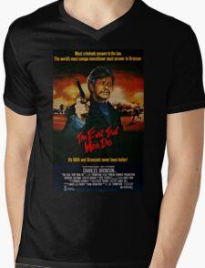 The Evil That Men Do - Charles Bronson - Movie Promo Poster Mens V-Neck T-Shirt