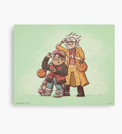 Back to the Future Trick or Treat Canvas Print