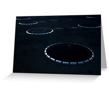 Unidentified Fuel Objects - Monochrome Greeting Card