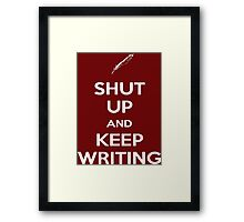 Keep Writing #2 Framed Print