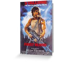 Rambo: First Blood - Promotional Poster Greeting Card