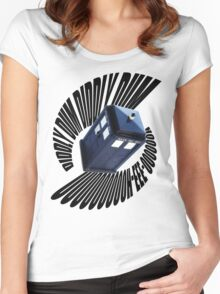 doctor who theme Women's Fitted Scoop T-Shirt