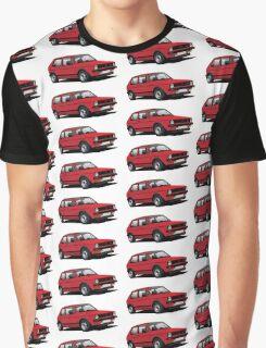 Volkswagen Golf GTI MK1 illustration red Graphic T-Shirt