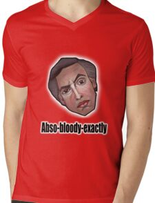 Abso-bloody-exactly - Alan Partridge Tee Mens V-Neck T-Shirt