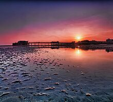Worthing pier sunset  by Dean Bedding