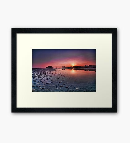 Worthing pier sunset  Framed Print