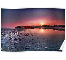 Worthing pier sunset  Poster