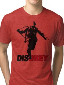 DISOBEY SOLDIER Tri-blend T-Shirt