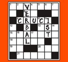 CRUCIVERBALIST Crossword Puzzle Lovers Kids Tee