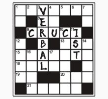 CRUCIVERBALIST Crossword Puzzle Lovers Kids Clothes