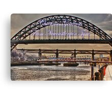 Christmas Greetings From Newcastle Canvas Print