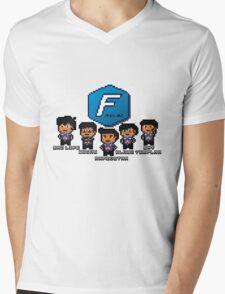 Pixel Azubu Frost Mens V-Neck T-Shirt